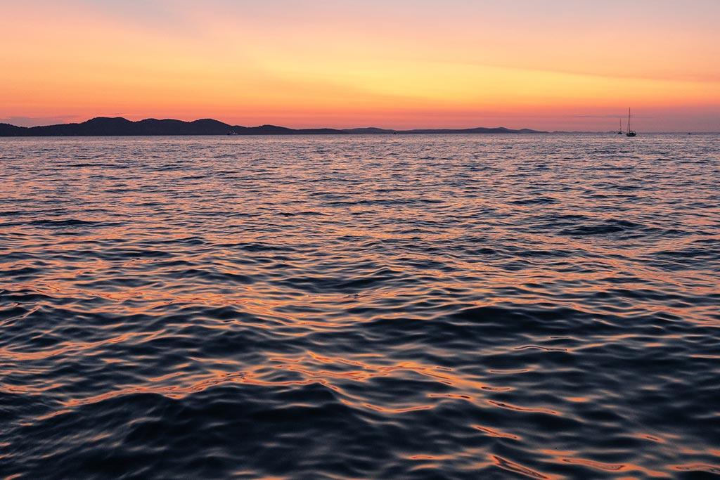 image of sunrise over ocean
